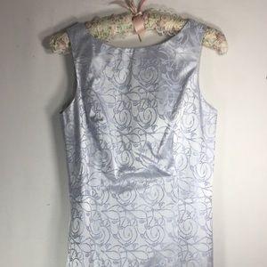 BeBe Blue silvery pearly glitter dress